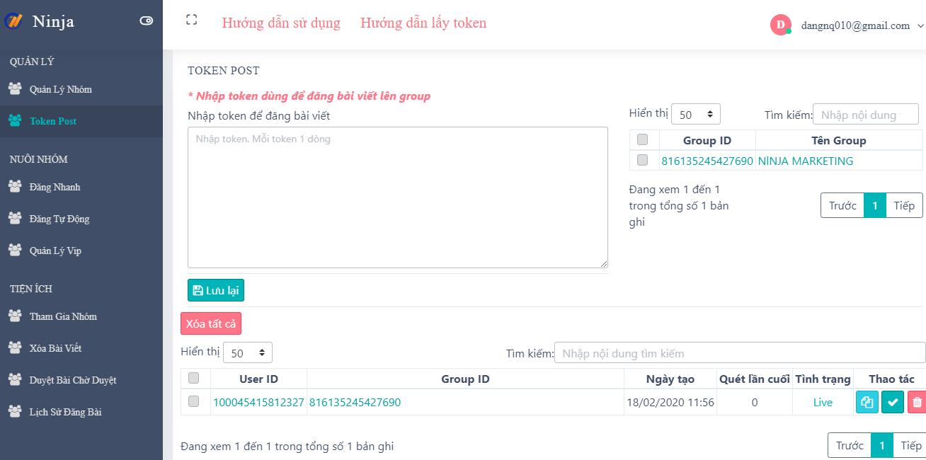 Ninja Group cho giúp bạn quản lý hàng trăm Group dễ dàng