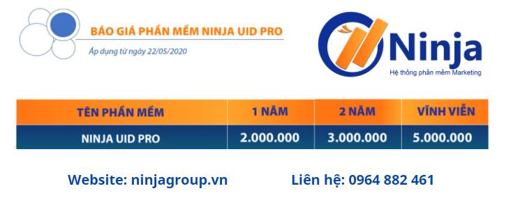 Báo giá phần mềm Ninja UID Pro