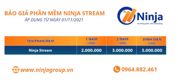 bang gia phan mem ninja stream