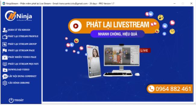 phan mem phat lai livestream